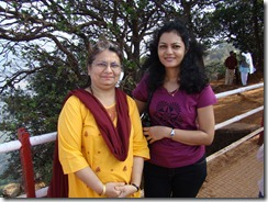Gauri and Madhavi @ Arthur seat point